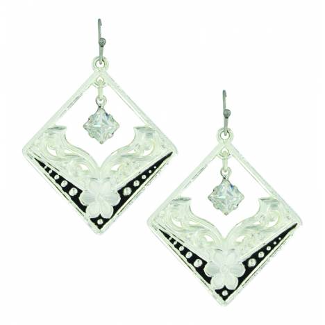 Montana Silver Moonlight Star Flower Earrings