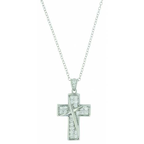 Montana Silver Ribboned Cross Necklace
