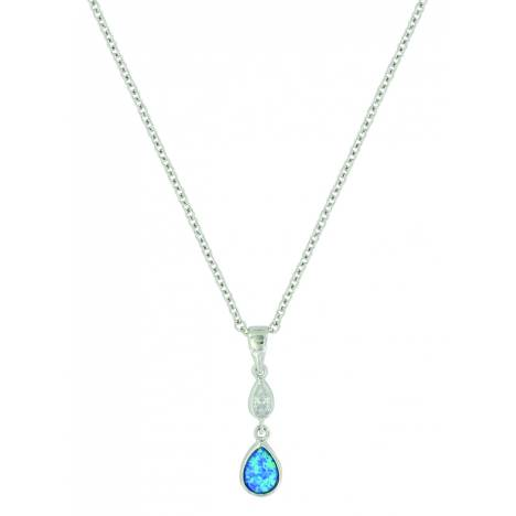Montana Silver River of Lights Falling into Water Necklace