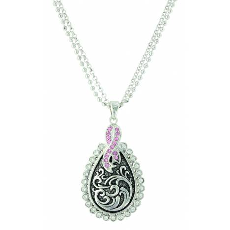 Montana Silver Tough Enough to Wear Pink Filigree Necklace