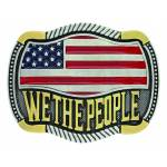 Montana Silver We the People Flag Attitude Buckle