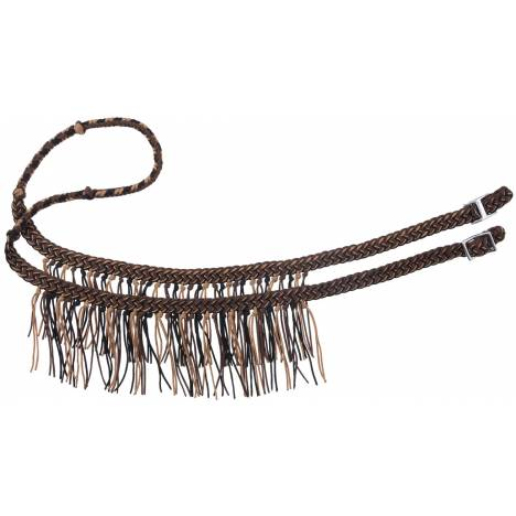 Tough-1 Miniature Knotted Competition Reins With Fringe