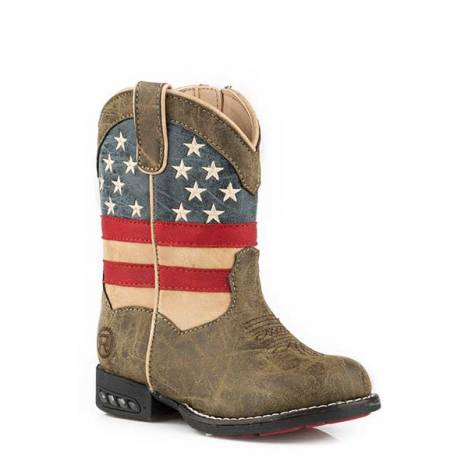 Roper Toddler Patriot Western Lights Lite Up