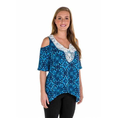 Noble Outfitters Ladies Harper Cold Shoulder Top