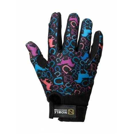 Noble Outfitters Kids Perfect Fit Glove - Multi Running Horse