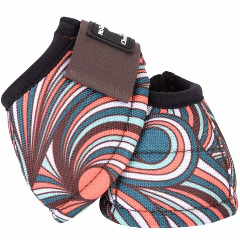 Classic Equine DyNo Turn Designer Line Bell Boots - Chocolate Swirl