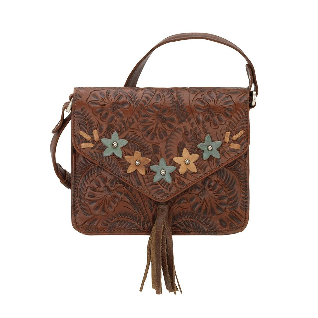 American West Flower Power Crossbody Flap Bag