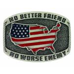 Montana Silversmiths No Better Friend Painted Attitude Buckle