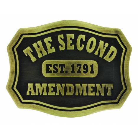 Montana Silversmiths Second Amendment Plaque Attitude Buckle