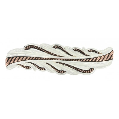 Montana Silversmiths Rose Gold Rope And Feathers Barrette