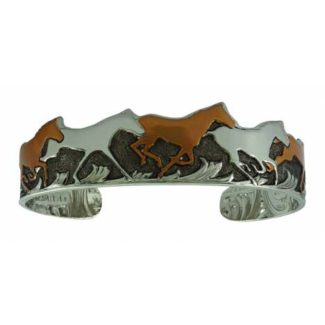 Montana Silversmiths Curio Fiinish Horses of a Different Color Cuff Bracelet