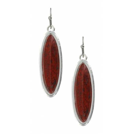 Montana Silversmiths Red Marquis Earrings
