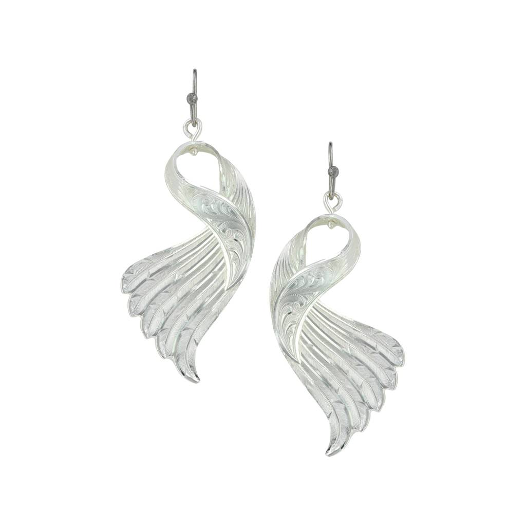 Montana Silversmiths Twisted Feather Earrings
