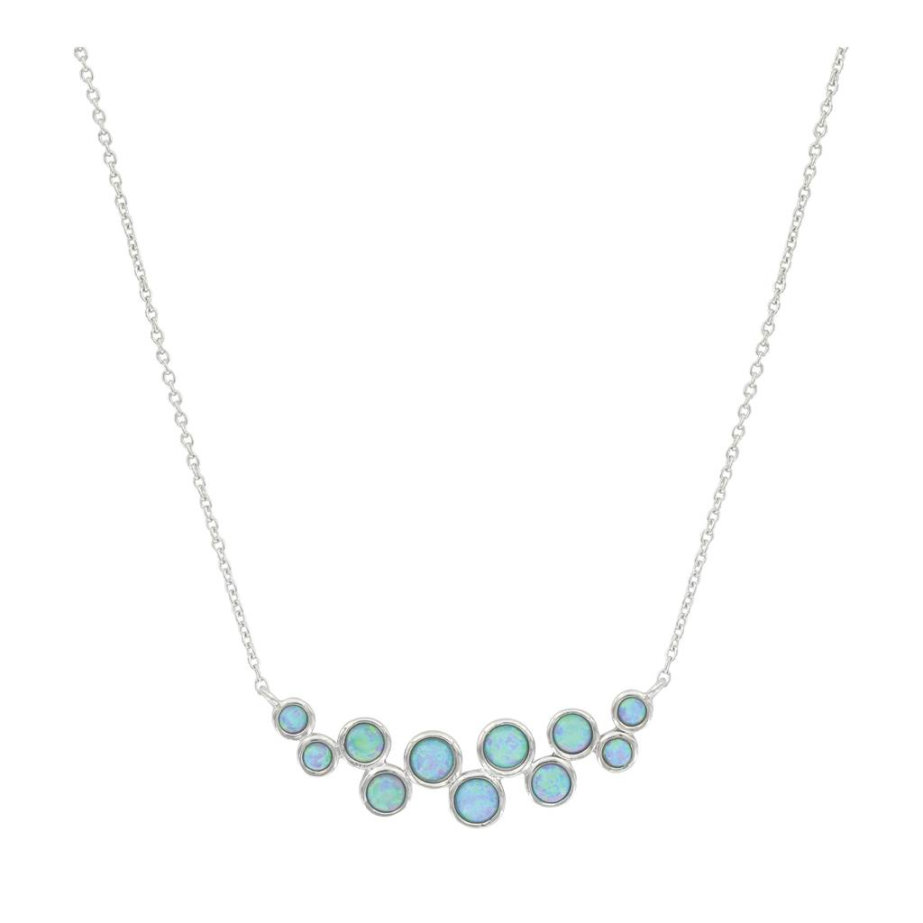 Montana Silversmiths Long Opal Cluster Necklace