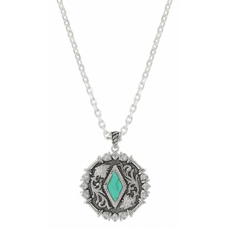 Montana Silversmiths Antiqued Turquoise Concho Necklace