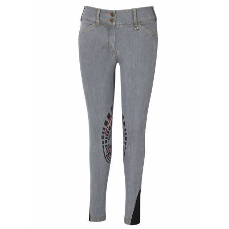 Equine Couture Ladies Calabasas Printed Silicon Patch Denim Jeans