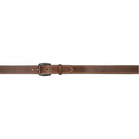 "3D Men's 1 1/2"" Vintage Single Ply Western Basic Belt - Brown with Grey Stitch"