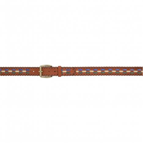 "3D Men's 1 1/2"" Multi Lacing Western Fashion Belt - Brown/Multi"