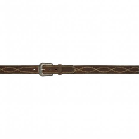 "3D Men's 1 1/2"" Figure-8 Stitch Western Fashion Belt - Dark Brown"