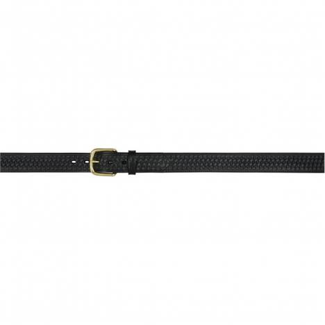 "3D Men's 1 1/2"" Basketweave Embossed Western Basic Belt - Black"