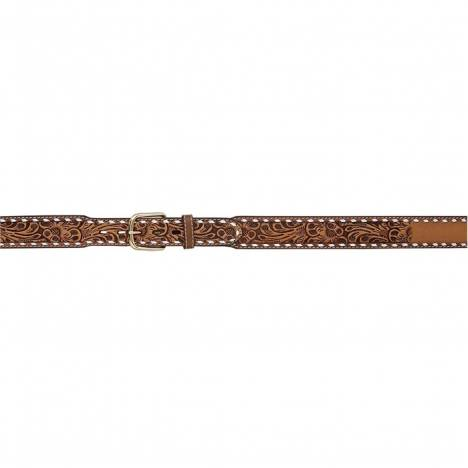 "3D Men's 1 3/4"" Tapered Floral Fade Buckstitch Western Fashion Belt - Natural"