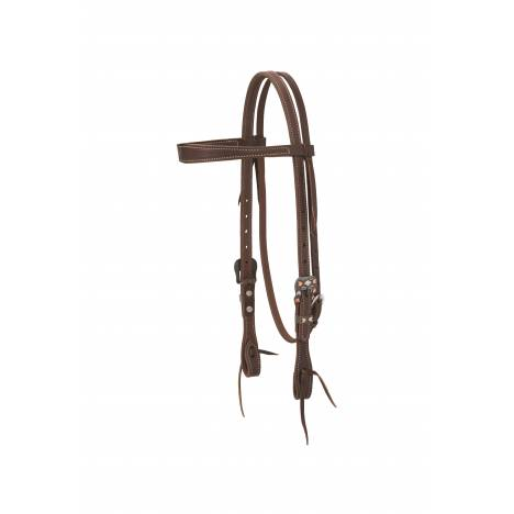 Weaver Working Tack Chevron Designer Hardware Slim Browband Headstall
