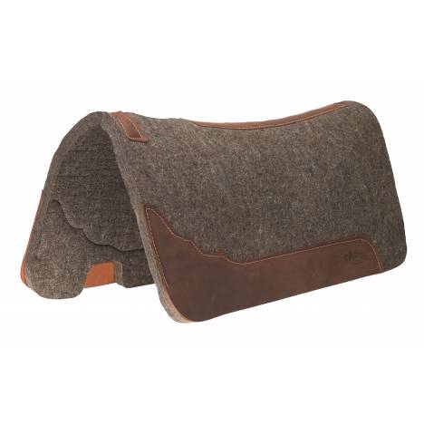 "Weaver Premium Contoured 100% Wool Felt Saddle Pad - 1"" Thick"