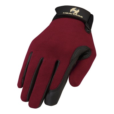 Heritage Performance Gloves - Colors - Dark Red - Adult Size 9