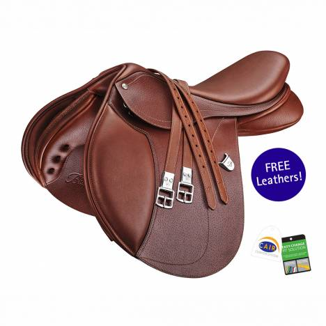 Bates Hunter Jumper Limited Edition Newmarket Leather Saddle with CAIR