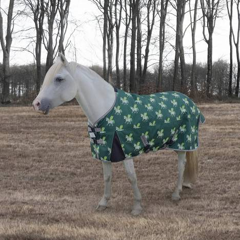 Tuffrider 1200D Ripstop Horse Print Standard Neck Two Tone Turnout - 220gms