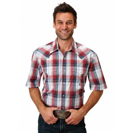 Roper Men's 1679 Independence Plaid Short Sleeve Shirt