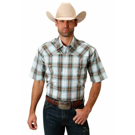 Roper Men's 1674 Sage Creek Plaid Short Sleeve Shirt