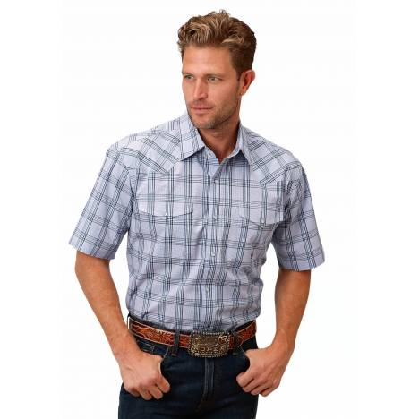 Roper Men's 1522 Coal Creek Check Short Sleeve Shirt