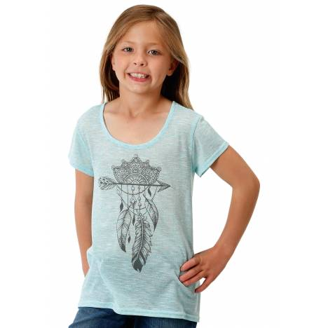 Roper Girls 1608 Poly Knit Scoop Neck Tee