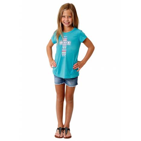 Roper Girls 1771 Poly Rayon Knit Ss Tee