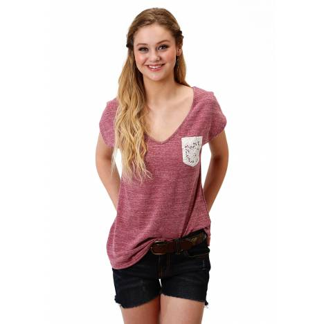 Roper Ladies 1604 Poly Cotton Heather Knit Tee