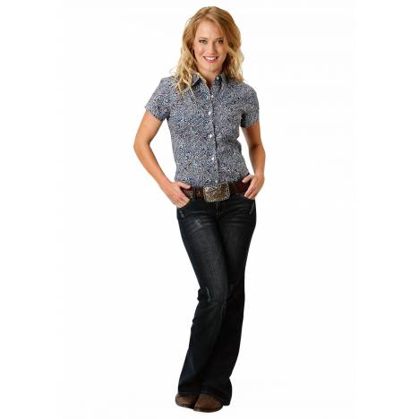 Roper Ladies 1518 Layered Paisley Short Sleeve Shirt