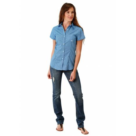 Roper Ladies 1681 Silver Spur Foulard Short Sleeve Shirt