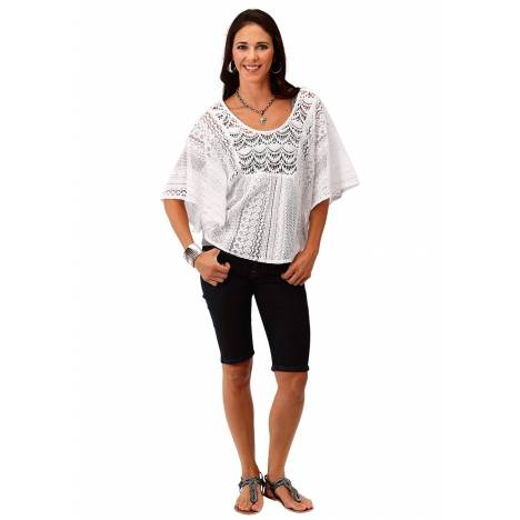 Roper Ladies 1811 Allover Lace Kimono Top