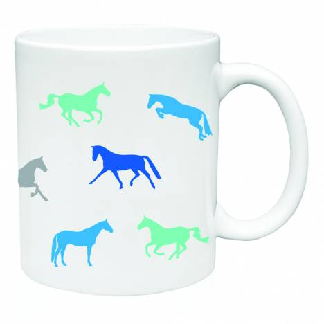 Kelley Blue Multi Horse Mug