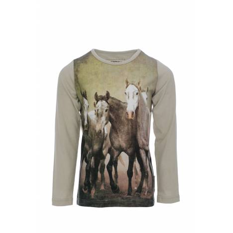 Horseware Girls Long Sleeve Top - Horse Print