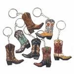 Tough-1 Keychain Cowboy Boot - 7 Pack