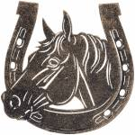 Gift Corral Horse/Horseshoe Stool Motiff