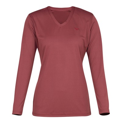 Tuffrider Ladies Taylor Tee Long Sleeve T-Shirt - Wine - 2X