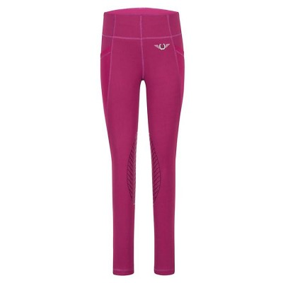 TuffRider Kids Minerva Equicool Tights - Plum Caspia - X-Small