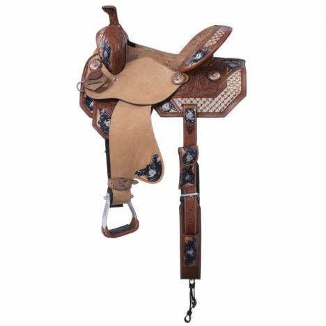 Tough-1 Macaelah 5 Piece Saddle Package With Fringe