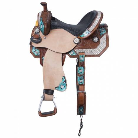 Tough-1 Ashton 5 Piece Saddle Package With Fringe