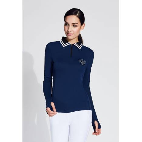 Noel Asmar Ladies Flora Zipper Longsleeve Polo