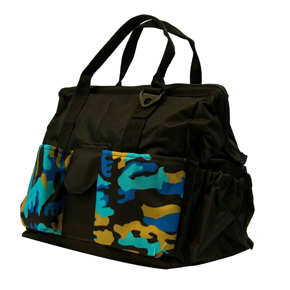 Large Grooming Tote Bag Blue Camo
