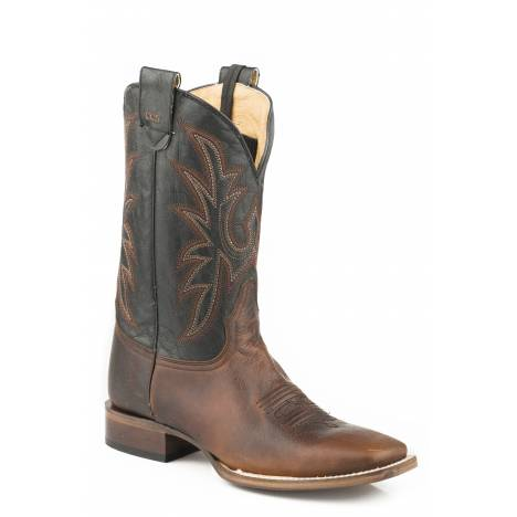 Roper Men's Loaded Square Toe Conceal Carry Boot - Wax Brown